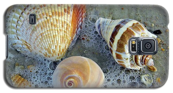 Beautiful Shells In The Surf Galaxy S5 Case by D Hackett