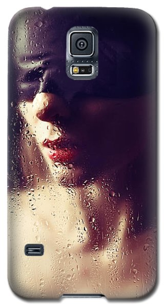 Beautiful Woman Blindfolded #8313 Galaxy S5 Case