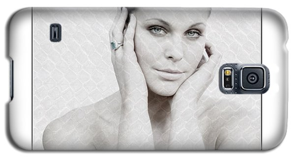 Beautiful Woman Holding Her Head Up Galaxy S5 Case by Michael Edwards