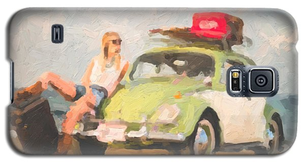 Galaxy S5 Case featuring the digital art Beauty And The Beetle - Road Trip No.1 by Serge Averbukh