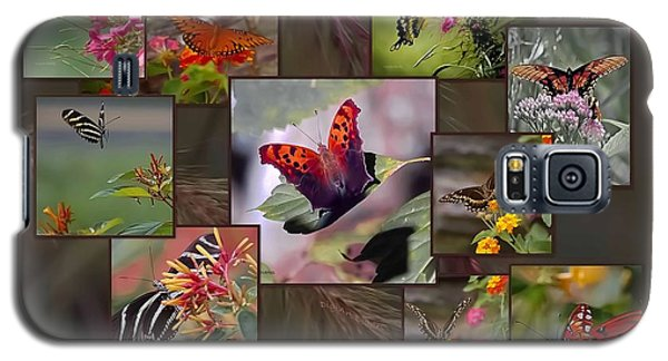 Beauty In Butterflies Galaxy S5 Case by DigiArt Diaries by Vicky B Fuller