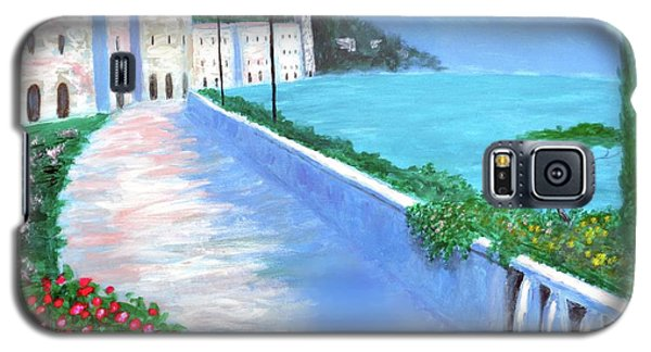 Galaxy S5 Case featuring the painting Beauty Of The Riviera by Larry Cirigliano