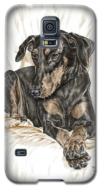 Beauty Pose - Doberman Pinscher Dog With Natural Ears Galaxy S5 Case