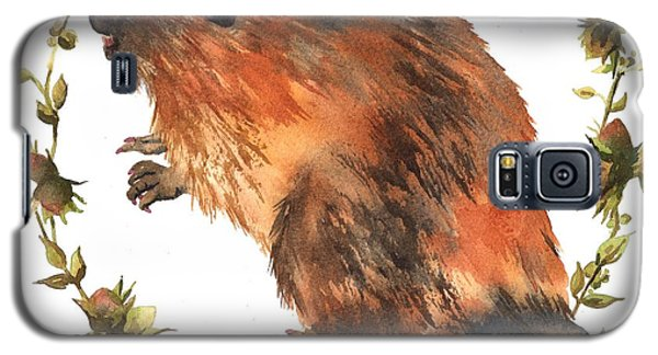 Beaver Painting Galaxy S5 Case by Alison Fennell