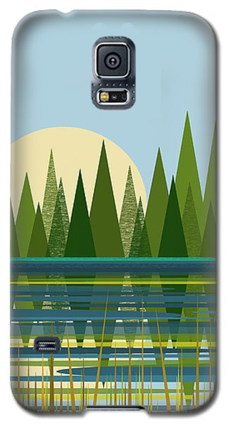 Galaxy S5 Case featuring the digital art Beaver Pond - Vertical by Val Arie
