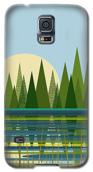 Beaver Pond - Vertical Galaxy S5 Case by Val Arie