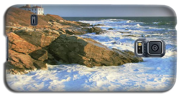 Galaxy S5 Case featuring the photograph Beavertail Point And Lighthouse  by Roupen  Baker