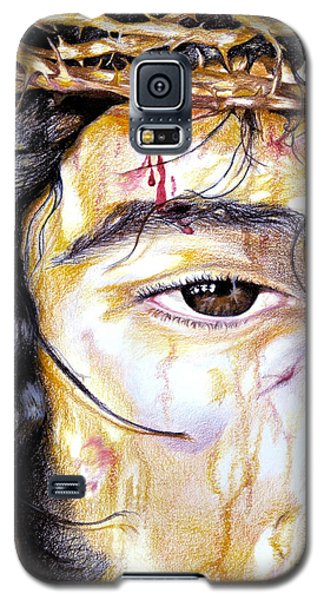 Galaxy S5 Case featuring the drawing Because Of Love by Sheron Petrie