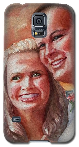 Galaxy S5 Case featuring the painting Becky And Chris by Marilyn Jacobson