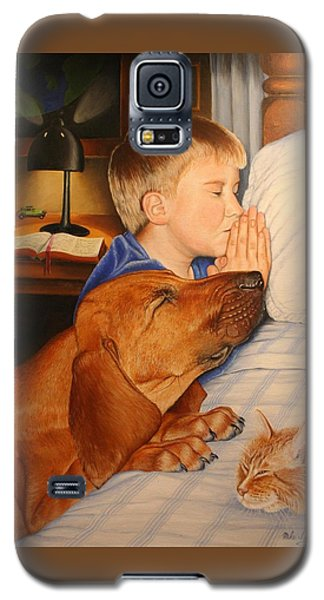 Galaxy S5 Case featuring the painting Bed Time Prayers by Mike Ivey