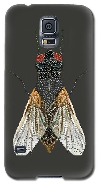 Bedazzled Housefly Transparent Background Galaxy S5 Case by R  Allen Swezey