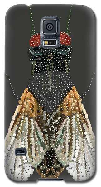 Bedazzled Housefly Transparent Background Galaxy S5 Case