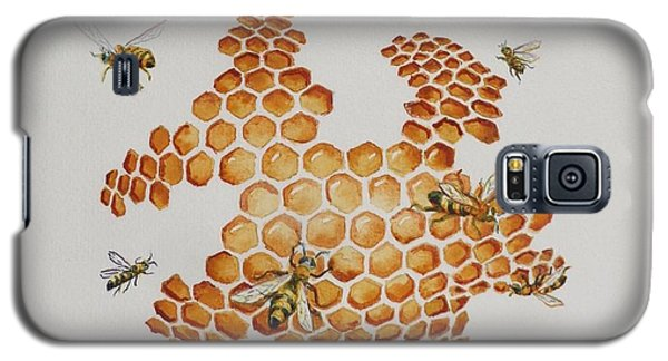 Galaxy S5 Case featuring the painting Bee Hive # 1 by Katherine Young-Beck