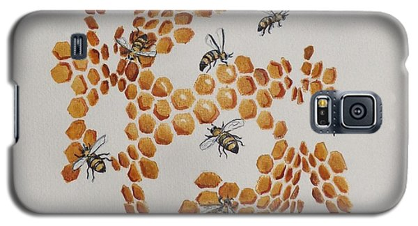 Galaxy S5 Case featuring the painting Bee Hive # 2 by Katherine Young-Beck