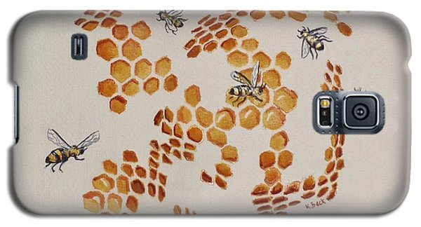 Galaxy S5 Case featuring the painting Bee Hive # 3 by Katherine Young-Beck