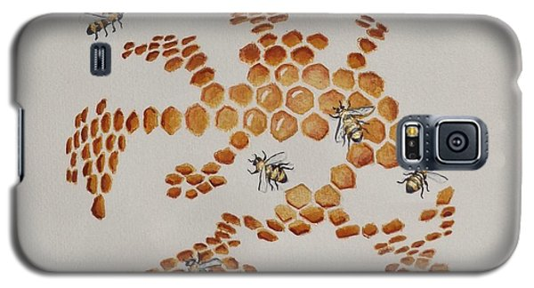 Galaxy S5 Case featuring the painting Bee Hive # 4 by Katherine Young-Beck