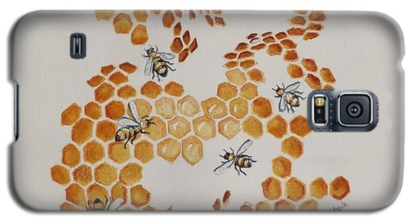 Galaxy S5 Case featuring the painting Bee Hive # 5 by Katherine Young-Beck