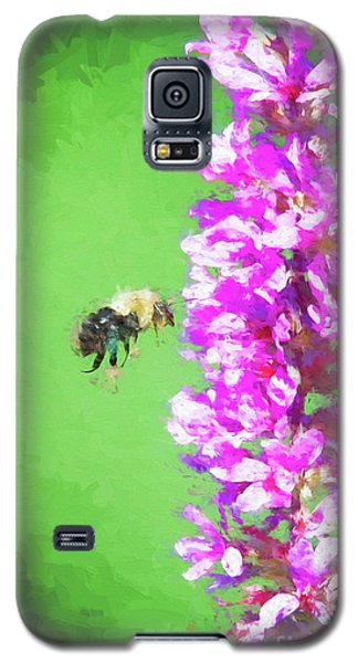 Bee Kissing A Flower Galaxy S5 Case
