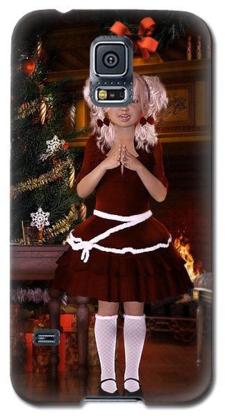 Galaxy S5 Case featuring the digital art Been Good Santa by Shanina Conway