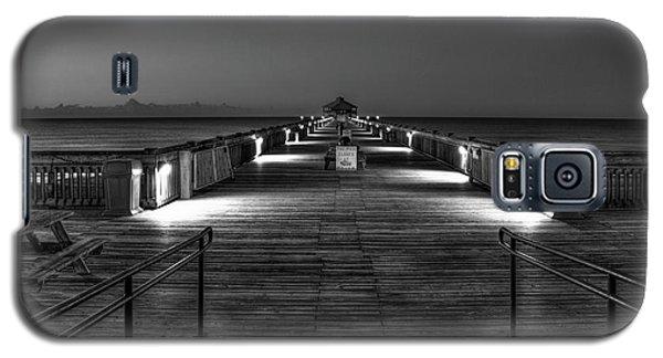 Galaxy S5 Case featuring the photograph Before Dawn Folly Beach Pier Charleston Sc Art by Reid Callaway