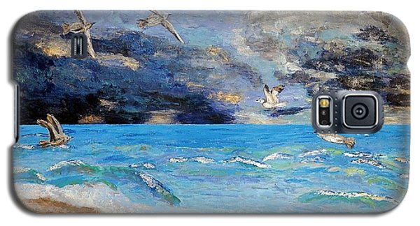 Galaxy S5 Case featuring the painting Before The Storm by Vicky Tarcau