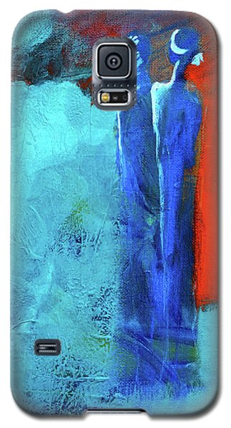 Galaxy S5 Case featuring the painting Before The Wedding by Nancy Merkle