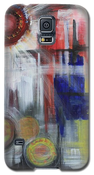 Galaxy S5 Case featuring the painting Begging by Sladjana Lazarevic