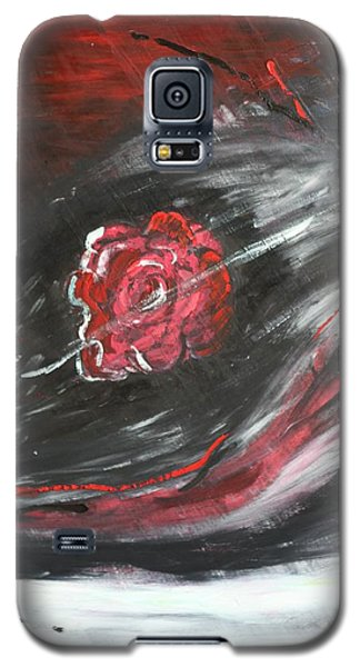 Galaxy S5 Case featuring the painting Beggining by Sladjana Lazarevic