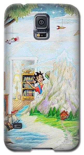 Galaxy S5 Case featuring the painting Beginning A Book by Matt Konar
