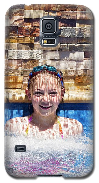 Galaxy S5 Case featuring the photograph Behind The Falls by Linda Lees