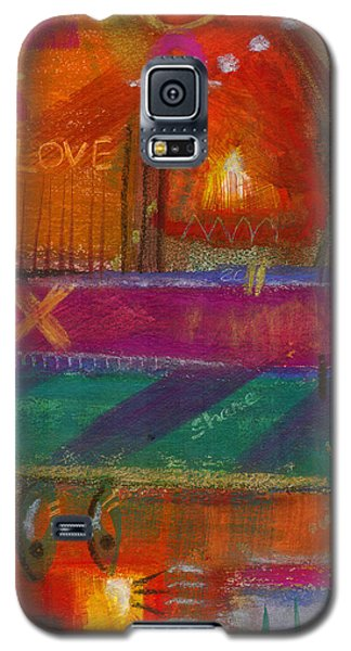 Galaxy S5 Case featuring the painting Being In Love by Angela L Walker