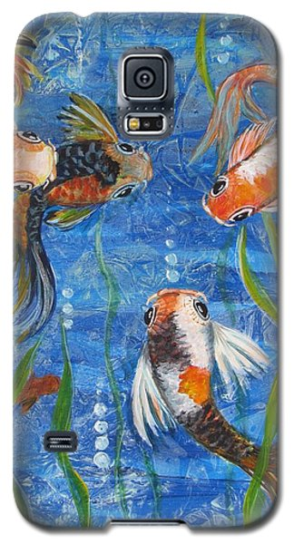 Galaxy S5 Case featuring the painting Being Koi by Martha Ayotte
