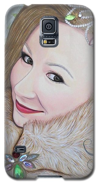 Galaxy S5 Case featuring the painting Bejeweled Beauties - Imogen by Malinda Prudhomme