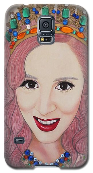Galaxy S5 Case featuring the painting Bejeweled Beauties - Katrina by Malinda Prud'homme