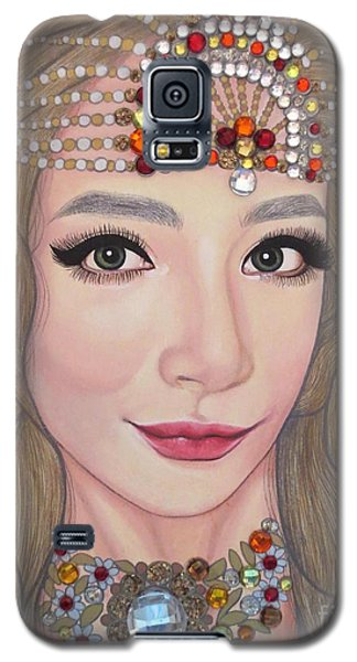 Galaxy S5 Case featuring the painting Bejeweled Beauties - Lucy by Malinda Prudhomme