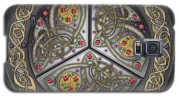 Bejeweled Celtic Shield Galaxy S5 Case by Kristen Fox