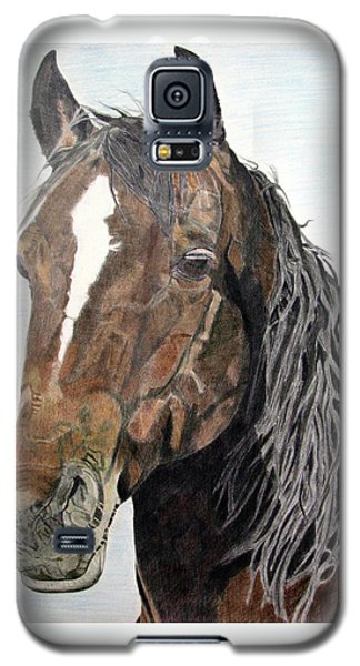 Galaxy S5 Case featuring the drawing Bela by Melita Safran