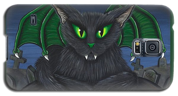 Bela Vampire Cat Galaxy S5 Case by Carrie Hawks