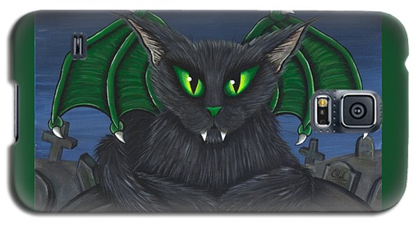 Galaxy S5 Case featuring the painting Bela Vampire Cat by Carrie Hawks