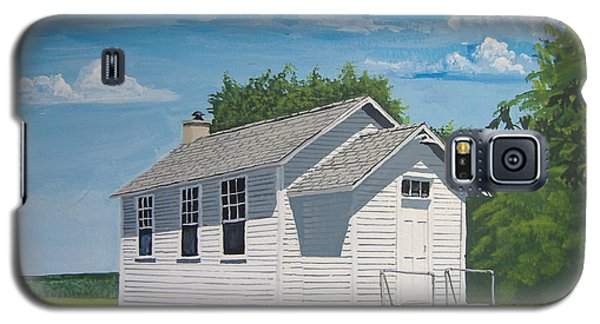 Galaxy S5 Case featuring the painting Belding School by Norm Starks
