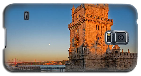 Belem Tower And The Moon Galaxy S5 Case