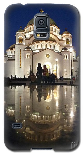 Galaxy S5 Case featuring the photograph Belgrade Serbia Orthodox Cathedral Of Saint Sava  by Danica Radman