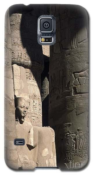 Galaxy S5 Case featuring the photograph Belief In The Hereafter - Luxor Karnak Temple by Urft Valley Art
