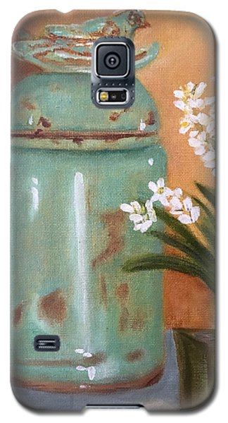Galaxy S5 Case featuring the painting Bell Jar by Sharon Schultz