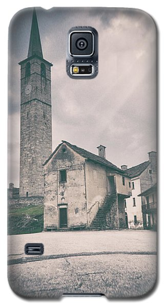 Galaxy S5 Case featuring the photograph Bell Tower In Italian Village by Silvia Ganora