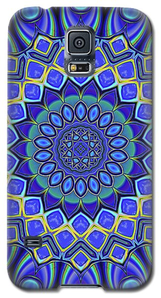Galaxy S5 Case featuring the digital art Bella - Blue by Wendy J St Christopher