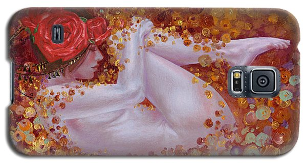 Galaxy S5 Case featuring the painting Bella Rose by Ragen Mendenhall