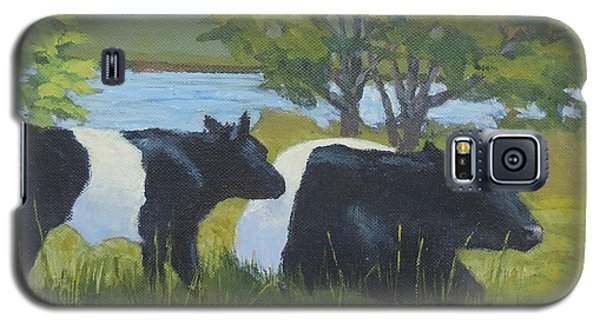Belted Galloway And Calf Galaxy S5 Case