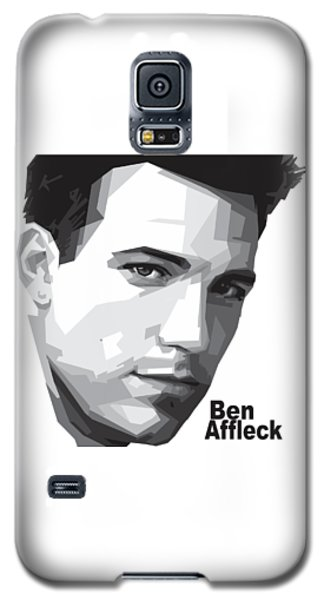 Ben Affleck Portrait Art Galaxy S5 Case by Madiaz Roby