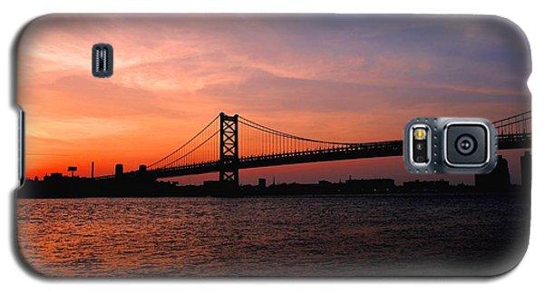 Ben Franklin Bridge Sunset Galaxy S5 Case